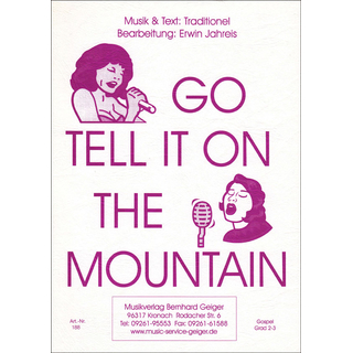 Go tell it on the mountain - Klavier-Begleitung