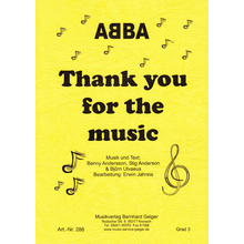 Thank you for the music - ABBA -Singpartitur