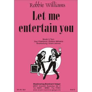 Let me entertain you - Robbie Williams